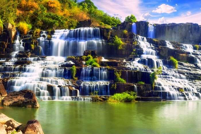 Nature beauty Waterfall