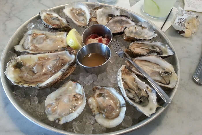 Oysters on the half shelf