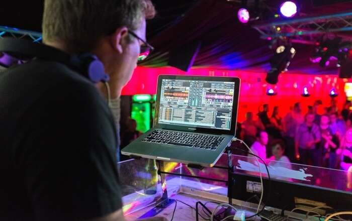 DJ closeup view