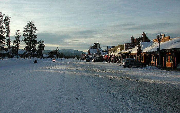 Street full of snow