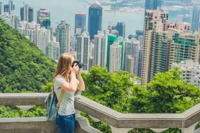 Victoria Peak in Hong Kong