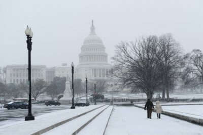 Washington DC in winter