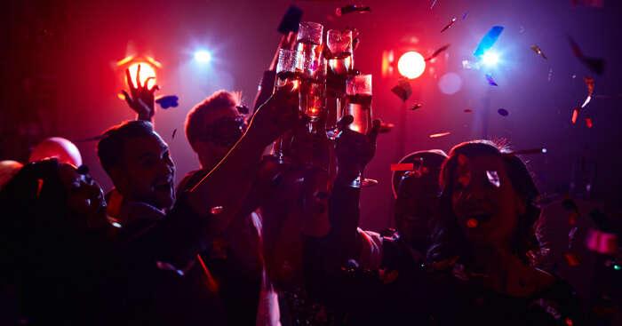 People enjoying in nightclubs