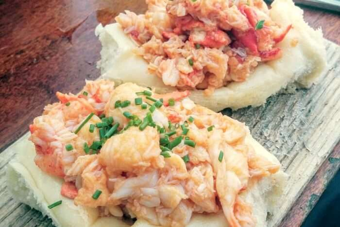 Binge on the delicious lobster rolls