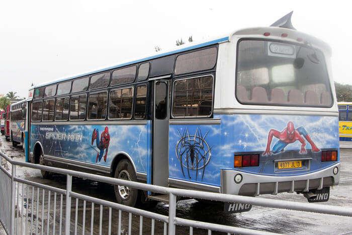 Bus Ride In Mauritius