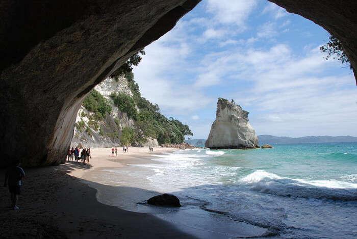 Coromandel beach and island
