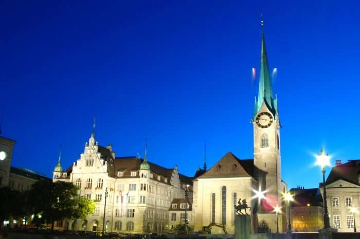 Fraumünster Church In Zurich