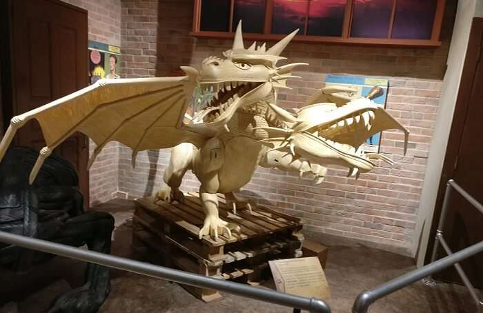 Dragon toy at mall