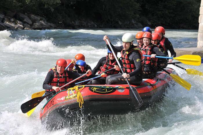 Indulge in white water rafting