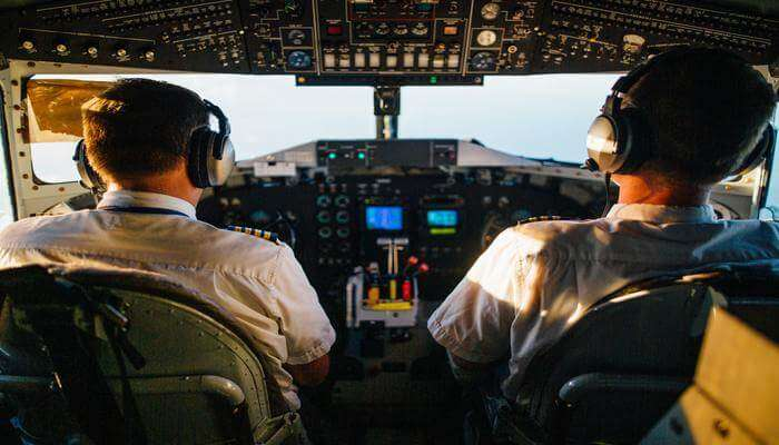 Piloting a plane