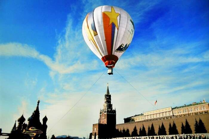 Ride a hot air balloon from Moscow's suburbs