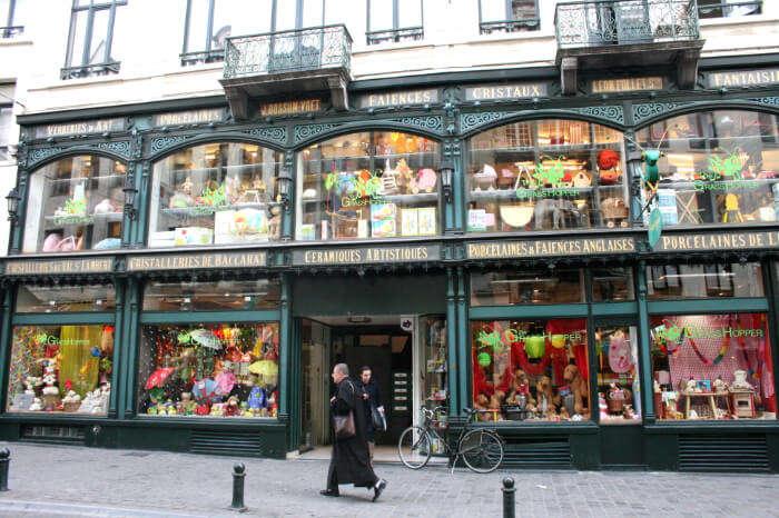 Rue du Marché aux Herbes in Belgium