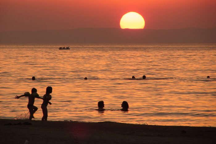 A beach in Sarkoy near Istanbul