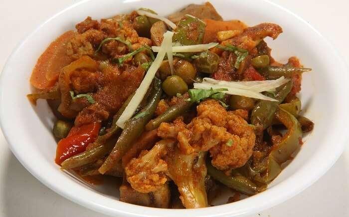 Indian Food Cuisine Mix Vegetables