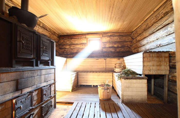 Try some sauna and bath