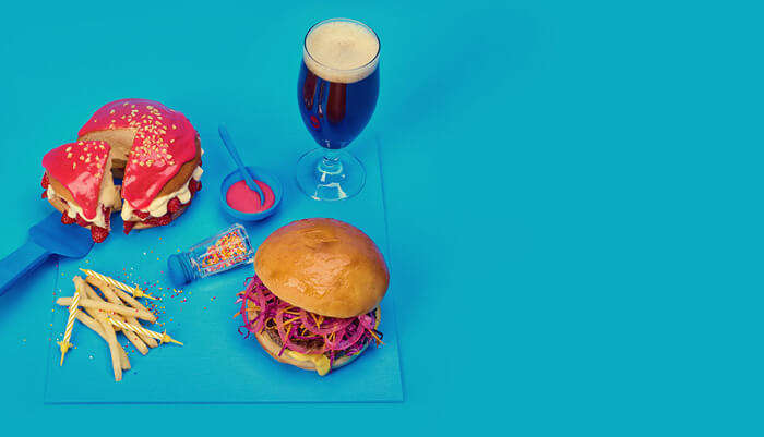 Burger and a glasss of drink