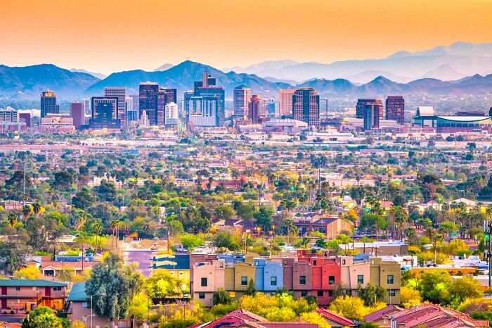 a view of Phoenix