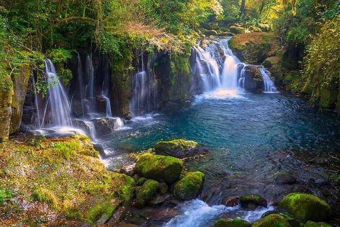 Japan Waterfall Kumamoto River Valley Kikuchi