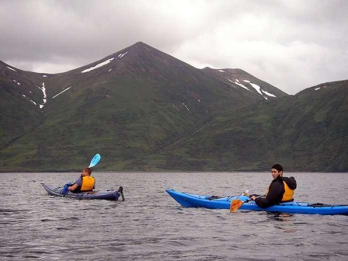 People doing kayaking