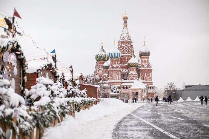 moscow snowfall