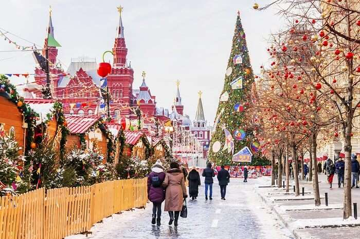 chrismas celebration in moscow