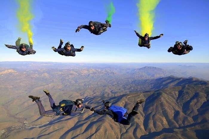 sky jumping