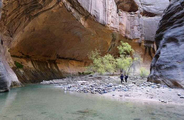 Hiking In The Narrows