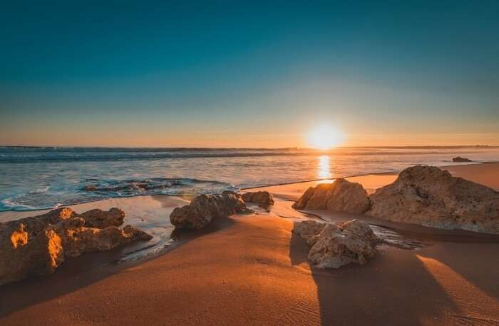 Sunset view in Portugal