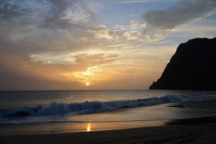 Evening Sun Beach Sea