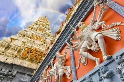 A Hindu temple in Singapore