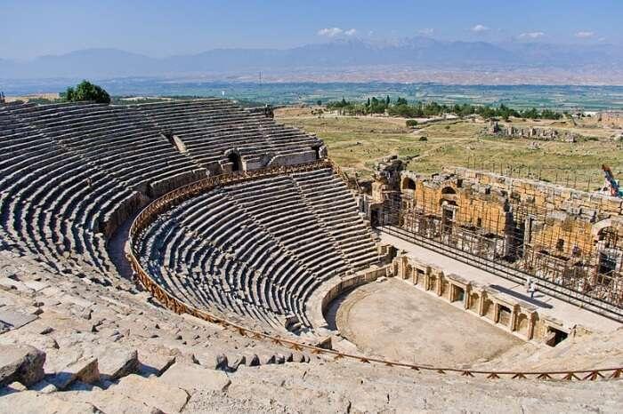 Explore what's left of the Hierapolis Theatre