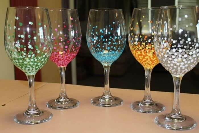Go To The Wine Glass Painting Party