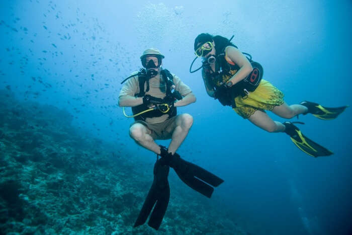 Go for an exciting couple scuba diving