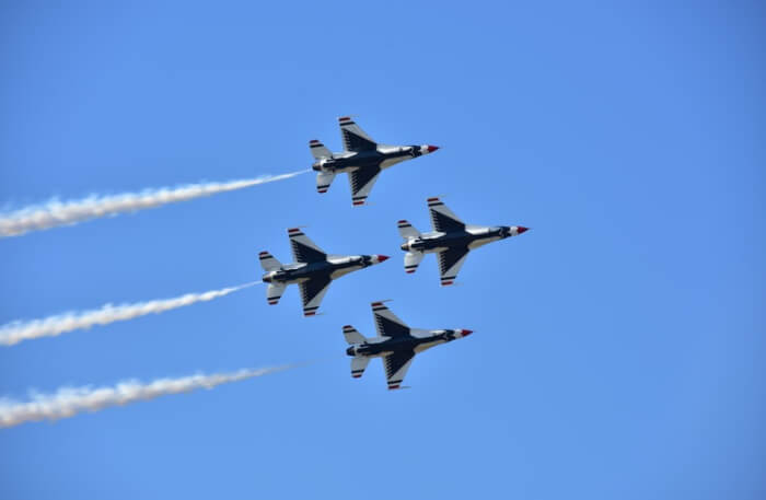 Air show by jet
