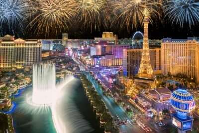 New Year parties in Las Vegas