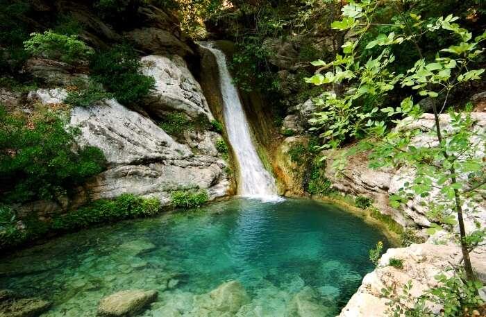 Polylimnio Waterfalls