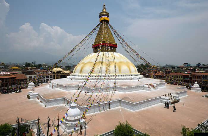 Boudhanath Temple view