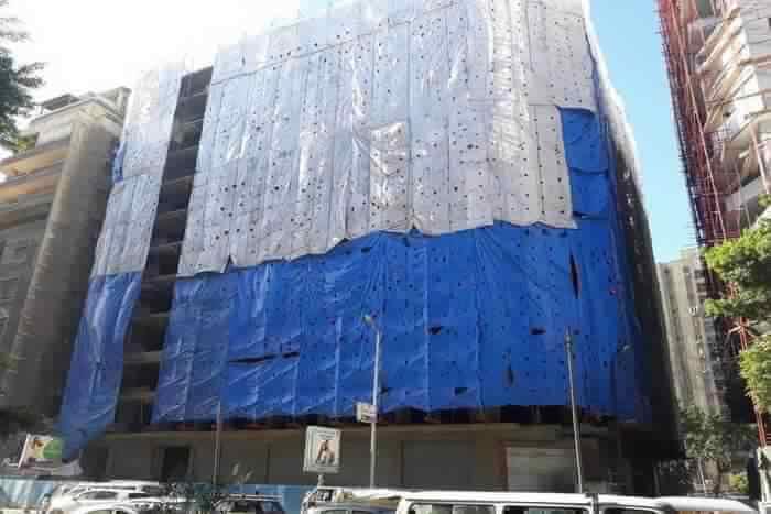 Beautiful blue Building