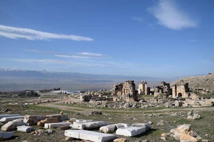 Ruin Pamukkale City Hierapolis Of Phrygia Ancient