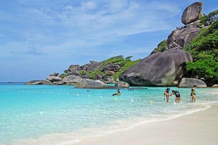 Snorkel around the Similan Islands