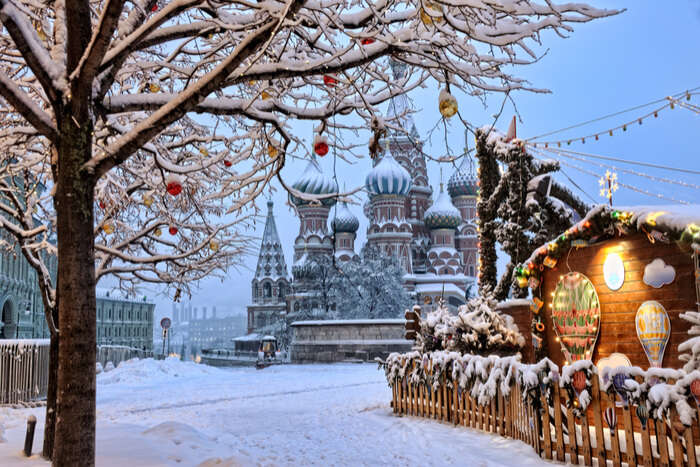 snowfall in russia