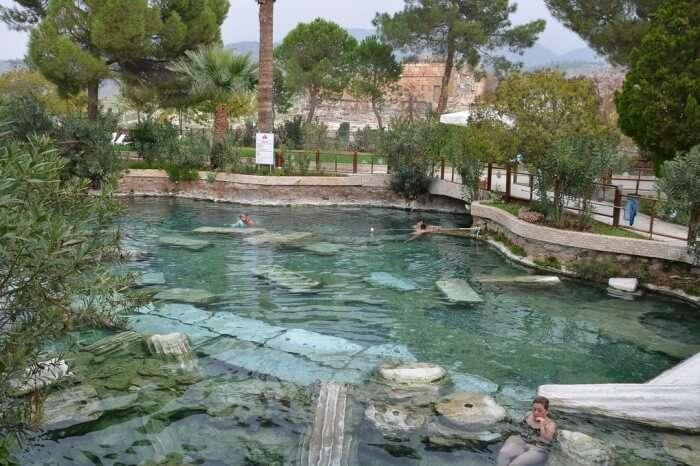 Soak in the antique pool of Pamukkale