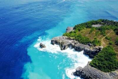 Amazing Blue Lagoon Beach in Bali
