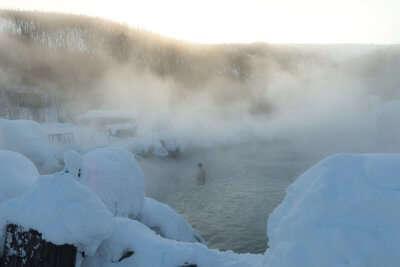 Beautiful Hot springs in Alaska