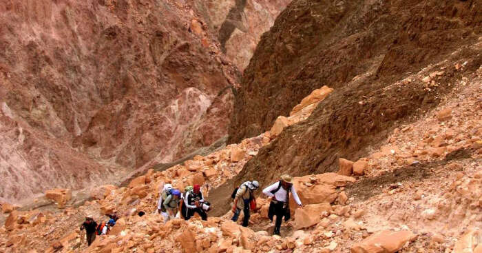 Hiking trail in egypt