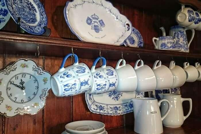 Old Hand Painted Porcelain Antique Inside Ceramic