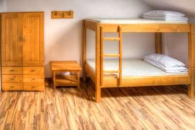 A hostel room in Alaska