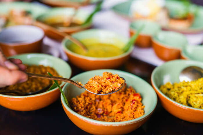 Food ingredients in a restaurant