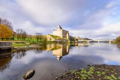 view of the famous castle in Estonia