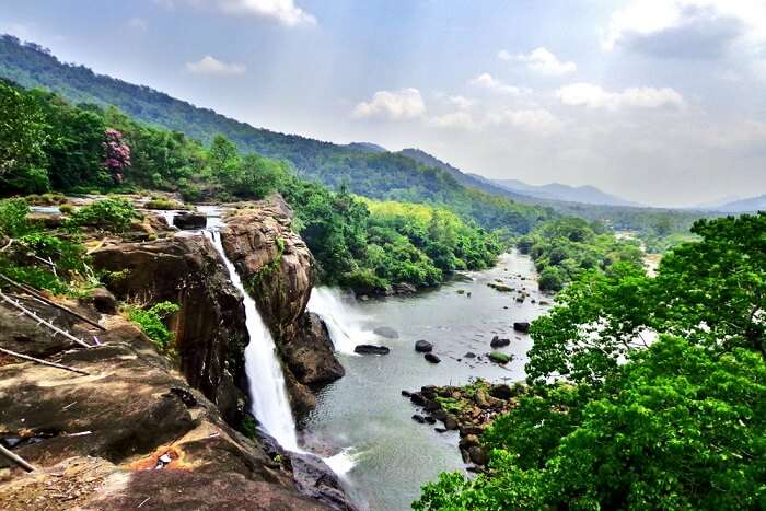 athirapally waterfalls view